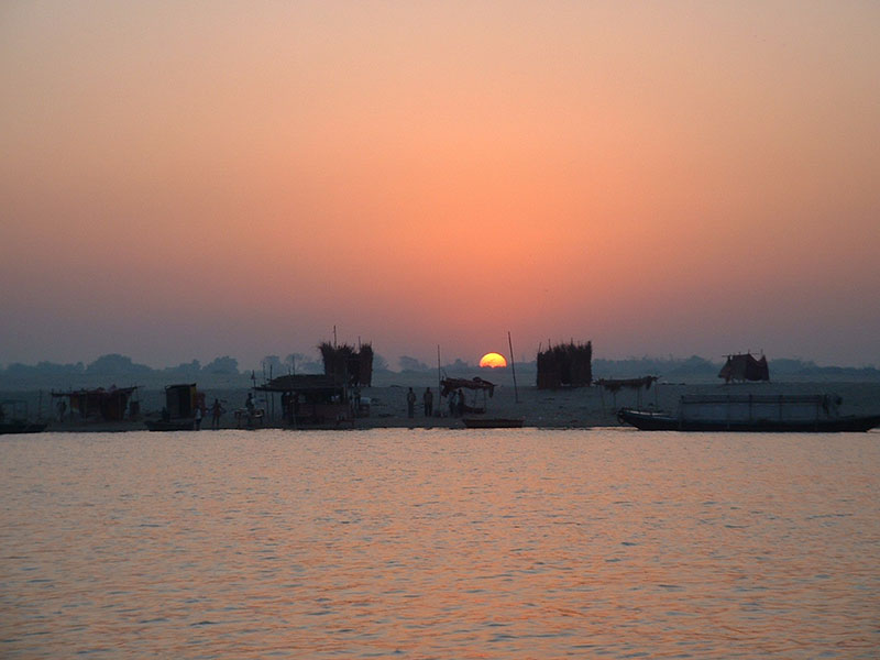india river at sunrise