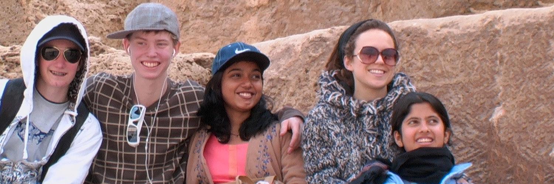 ananda university students traveling together