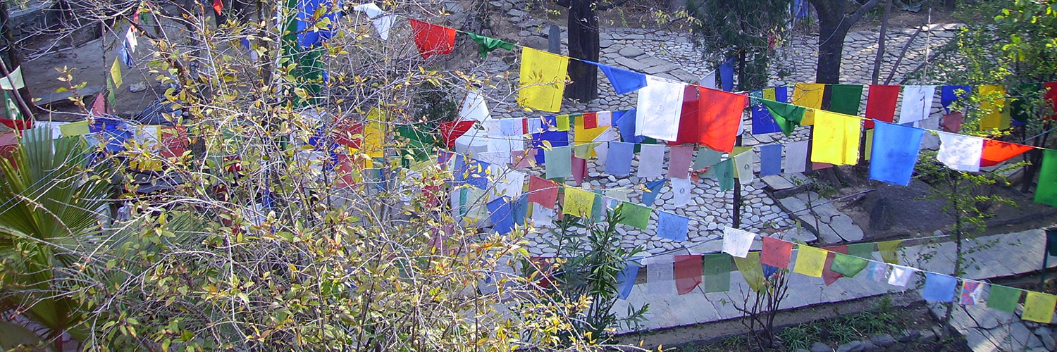 prayer flags at ananda