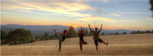 yogis on the ridge