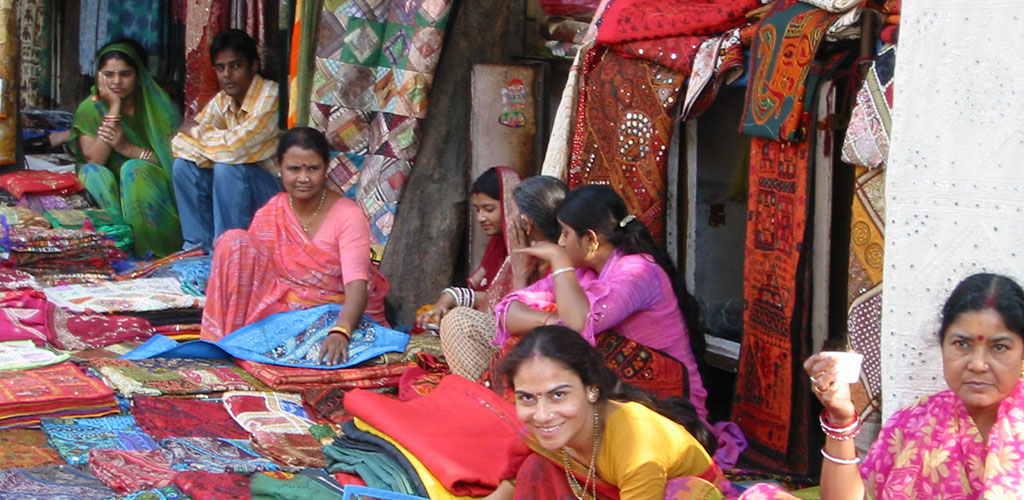 women working with textiles in india